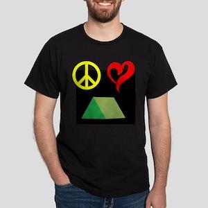 Peace, Love, Camp! Dark T-Shirt