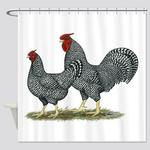 Dominique Chickens Shower Curtain