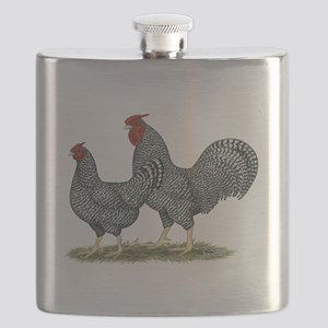 Dominique Chickens Flask