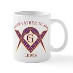 Masonic From Father To Lewis Mug