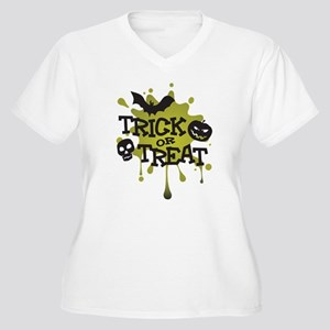 Trick Or Treat Halloween Splat Women's Plus Size V