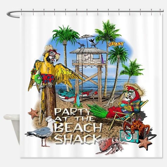 beachshack8b.png Shower Curtain