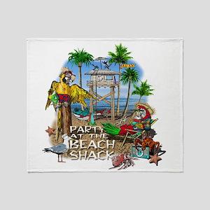 beachshack8b Throw Blanket