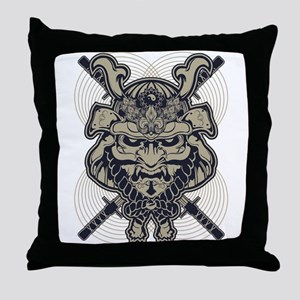 Samurai Rising Throw Pillow