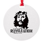 Jesus Christ Revolation Round Ornament