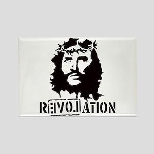 Jesus Christ Revolation Rectangle Magnet