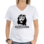 Jesus Christ Revolation Women's V-Neck T-Shirt