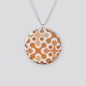 Midcentury Modern Necklace Circle Charm