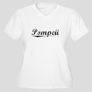 Pompeii, Vintage Women's Plus Size V-Neck T-Shirt