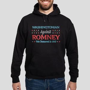 Washingtonian Against Romney Hoodie (dark)