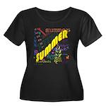 SUMMER Women's Plus Size Scoop Neck Dark T-Shirt