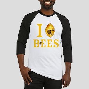 I Love Bees Baseball Tee