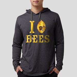 I Love Bees Mens Hooded Shirt