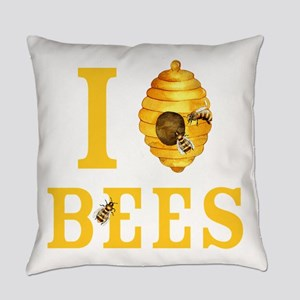 I Love Bees Everyday Pillow