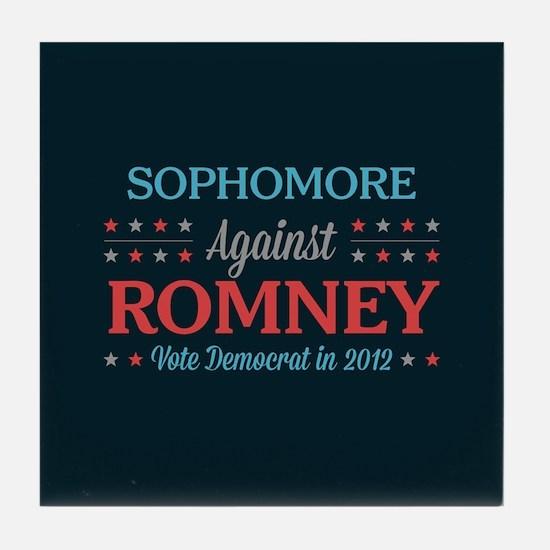 Sophomore Against Romney Tile Coaster