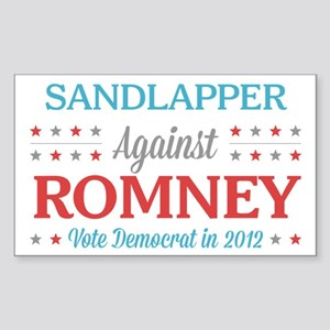 Sandlapper Against Romney Sticker (Rectangle)