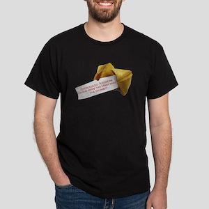 Confucius Fortune Cookie - Black T-Shirt