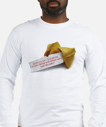 Confucius Fortune Cookie - Long Sleeve T-Shirt