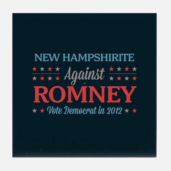 New Hampshirite Against Romney Tile Coaster