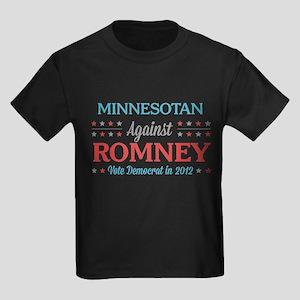 Minnesotan Against Romney Kids Dark T-Shirt