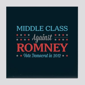 Middle Class Against Romney Tile Coaster