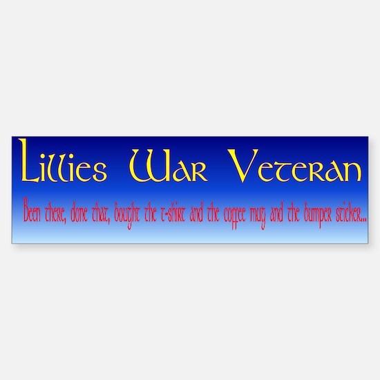 Lillies War Bumper Bumper Bumper Sticker
