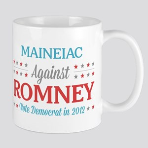 Maineiac Against Romney Mug