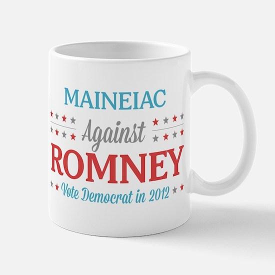 Maineiac Against Romney Mug