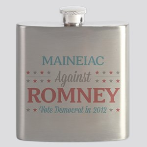 Maineiac Against Romney Flask
