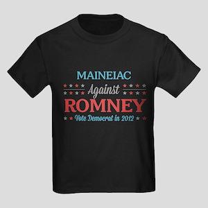 Maineiac Against Romney Kids Dark T-Shirt