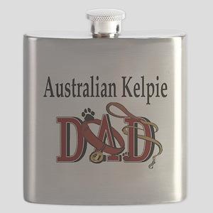 australian kelpie dad darks Flask