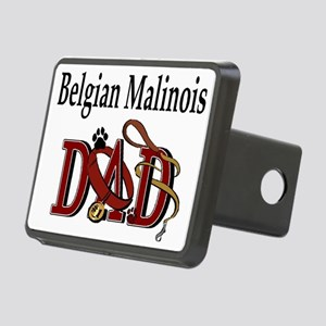 belgian malinois dad darks Rectangular Hitch C