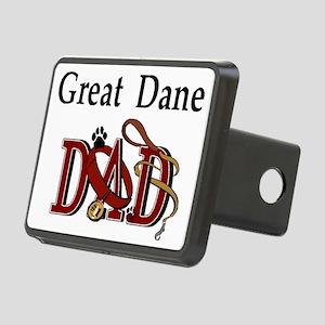 great dane dad darks Rectangular Hitch Cover