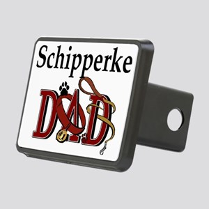 schipperke dad trans Rectangular Hitch Cover
