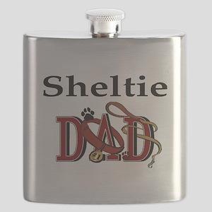 sheltie dad darks Flask