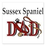 sussex dad trans Square Car Magnet 3
