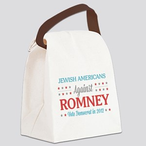 Jewish Americans Against Romney Canvas Lunch Bag