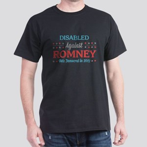 Disabled Americans Against Romney Dark T-Shirt