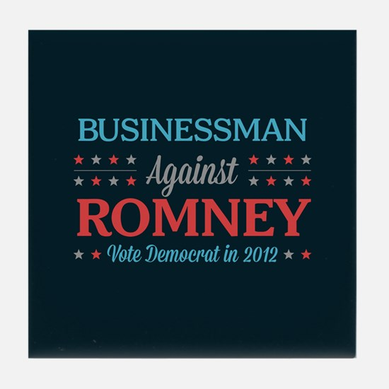 Businessman Against Romney Tile Coaster