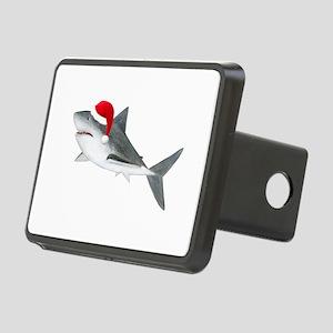 Christmas - Santa Shark Rectangular Hitch Cover