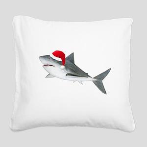 Christmas - Santa Shark Square Canvas Pillow