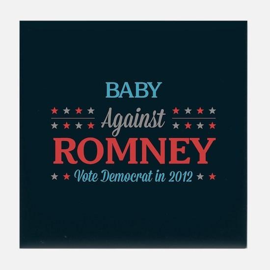 Baby Against Romney Tile Coaster