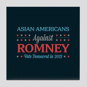 Asian Americans Against Romney Tile Coaster