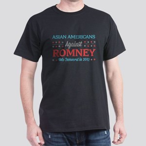 Asian Americans Against Romney Dark T-Shirt