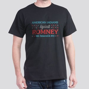American Indians Against Romney Dark T-Shirt