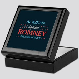 Alaskan Against Romney Keepsake Box
