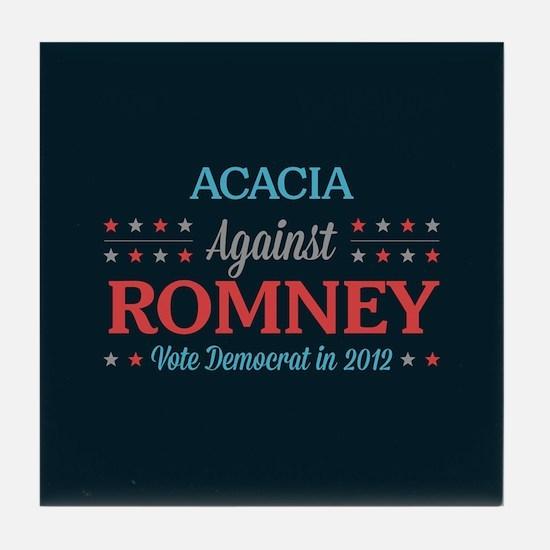 Acacia Against Romney Tile Coaster