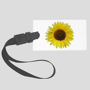 Helaine's Sunflower Large Luggage Tag