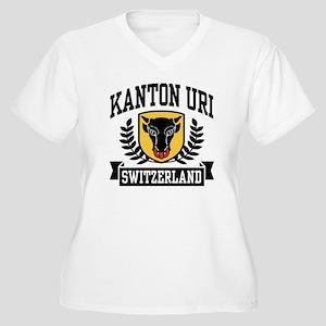 Kanton Uri Women's Plus Size V-Neck T-Shirt