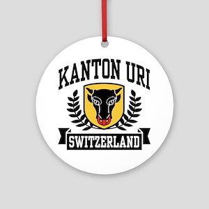 Kanton Uri Ornament (Round)